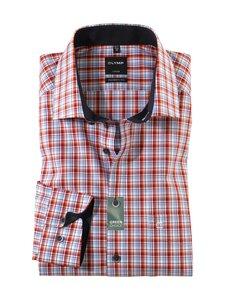 Olymp - Check Global Kent Extra Long Sleeve -kauluspaita - 36 RED | Stockmann