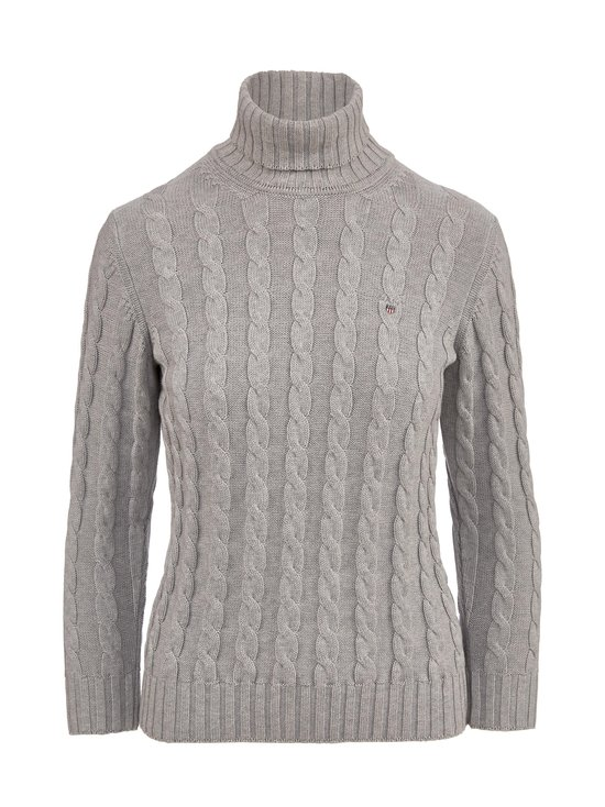 Cotton Cable Turtle Neck -puuvillapooloneule
