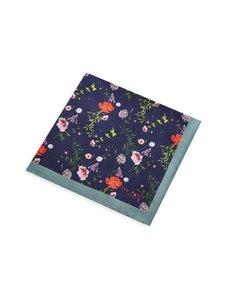 Ted Baker London - Hedgpok Floral Print -silkkitaskuliina - NAVY   Stockmann