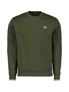 Fred Perry - Arch Branded Sweatshirt -collegepaita - 408 HUNTING GREEN | Stockmann