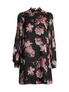 Vila - ViTaffy LS Dress -mekko - BLACK AOP:FLOWER PRINT | Stockmann