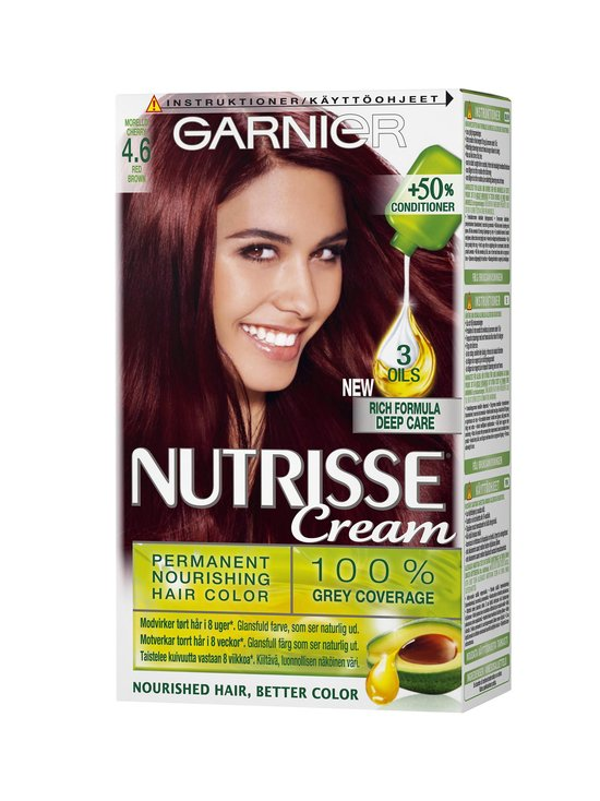 Garnier - Nutrisse Cream -hiusväri - 4.6 RED BROWN | Stockmann - photo 1