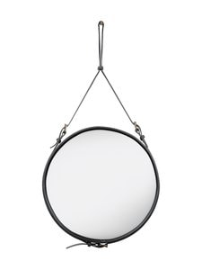 Gubi - Adnet Wall Mirror Circular -peili ⌀ 58 cm - BLACK LEATHER | Stockmann