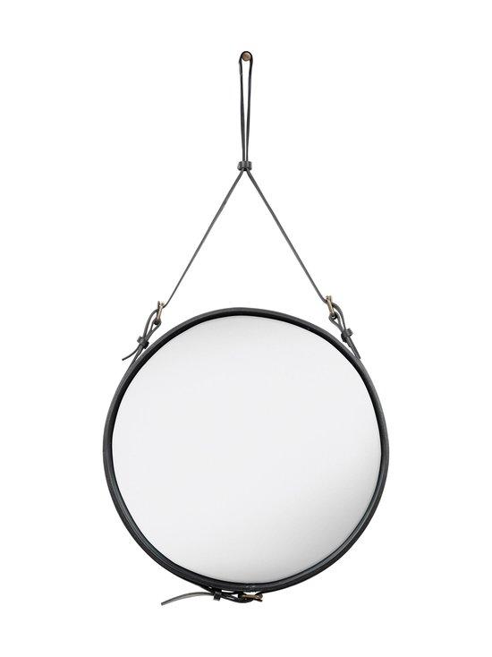 Gubi - Adnet Wall Mirror Circular -peili ⌀ 58 cm - BLACK LEATHER | Stockmann - photo 1
