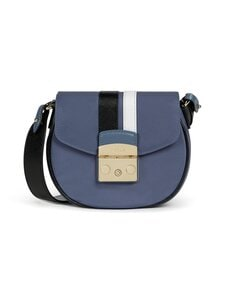 Furla - Metropolis Mini Crossbody Round -laukku - 0013S BLU DENIM+NERO+COLOR CRYSTAL | Stockmann
