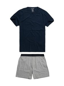 Superdry - Laundry Tee & Short -setti - 4IT DOWNHILL NAVY/LAUNDRY GREY MARL | Stockmann