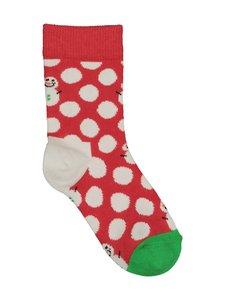 Happy Socks - Kids Big Dot Snowman -sukat - 4300-RED | Stockmann
