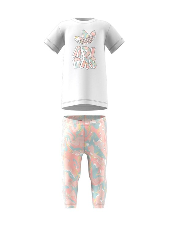 adidas Originals - TEE DRESS SET -legginsit ja T-paita - WHITE | Stockmann - photo 1