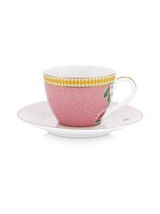 PIP Studio - La Majorelle -espressokuppi 120 ml ja lautanen - PINK | Stockmann