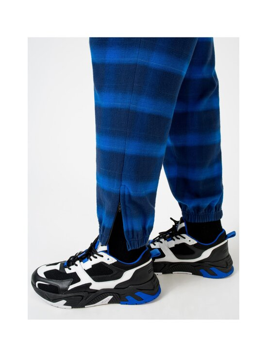 MARCELO BURLON - Flanel Check Jogging Zip Cuff -housut - BLUE | Stockmann - photo 3