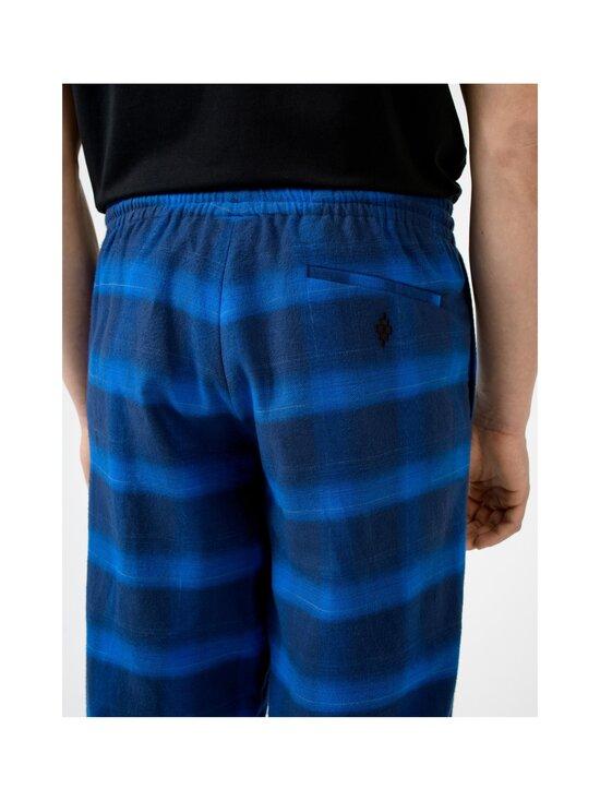 MARCELO BURLON - Flanel Check Jogging Zip Cuff -housut - BLUE | Stockmann - photo 4