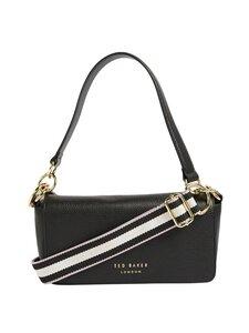 Ted Baker London - AMMIE Branded Webbing Strap Box Shoulder Bag -nahkalaukku - JET-BLACK | Stockmann