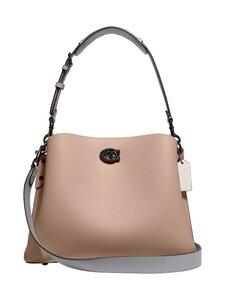 Coach - Willow Shoulder Bag In Colorblock -nahkalaukku - V5/TAUPE MULTI | Stockmann