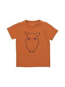 Knowledge Cotton Apparel - Flax Owl Tee -paita - 1308 RUST   Stockmann