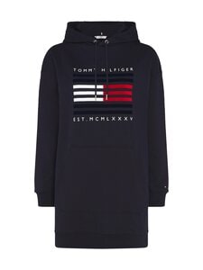 Tommy Hilfiger - Regular Flag Hoodie Dress -collegemekko - DW5 DESERT SKY | Stockmann