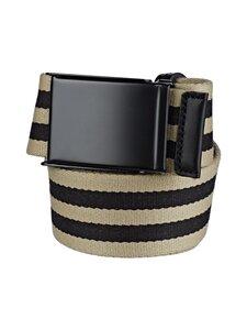 SDLR - Filipstad Striped Textile -vyö - 0317 BEIGE/BLACK | Stockmann