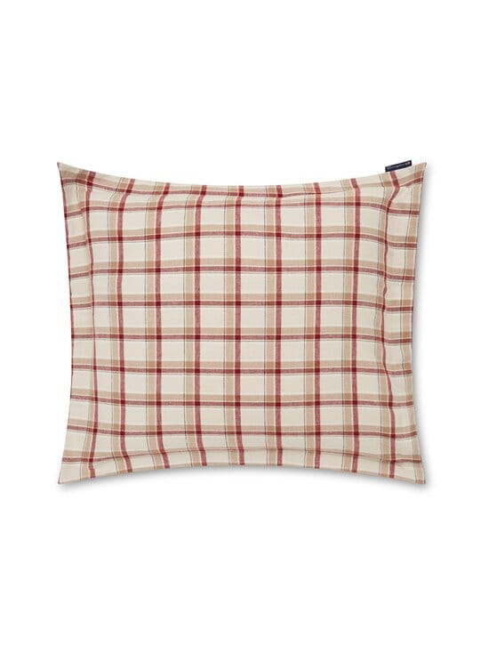 Lexington - Checked Cotton Twill -tyynynpäällinen 50 x 50 cm - BEIGE/RED | Stockmann - photo 1