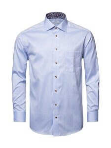 Eton - Classic Signature Twill Paisley Details -kauluspaita - 21 BLUE | Stockmann