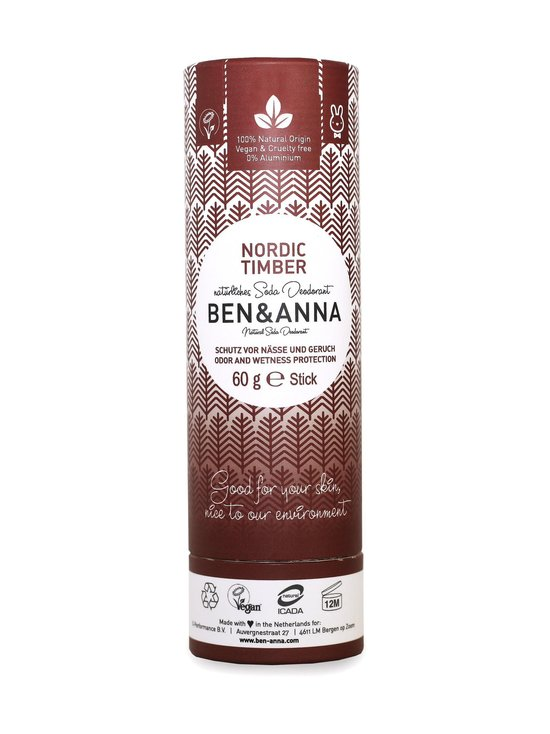 Ben & Anna - Deodorant Stick Nordic Timber Papertube -deodorantti 60 g - NOCOL | Stockmann - photo 1