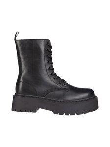 BIANCO - BiaDeb Laced Up Boot -nahkanilkkurit - 100 BLACK   Stockmann