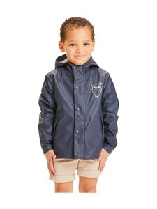 Knowledge Cotton Apparel - Reed Short Rain Jacket-sadetakki - 1001 TOTAL ECLIPSE | Stockmann