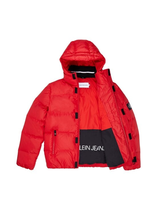 Calvin Klein Jeans - Hooded Down Puffer Jacket -untuvatakki - XME RED HOT | Stockmann - photo 4