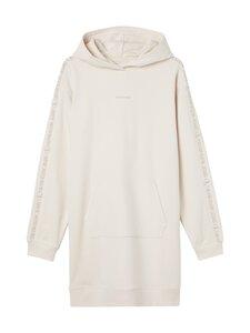 Calvin Klein Jeans - LOGO TRIM HOODIE DRESS -hupparimekko - PGA WHITE SAND   Stockmann