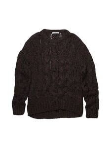 Acne Studios - Neule - BLACK/BURGUNDY | Stockmann