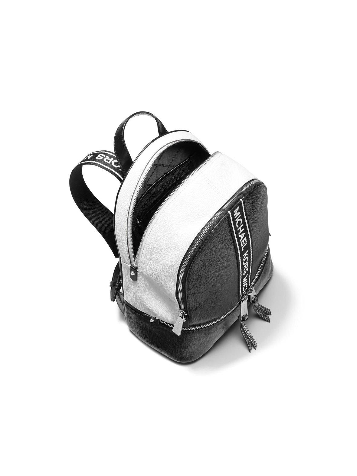c0a5806ff4bf Black/Optic White Michael Michael Kors Rhea Medium Logo Tape ...