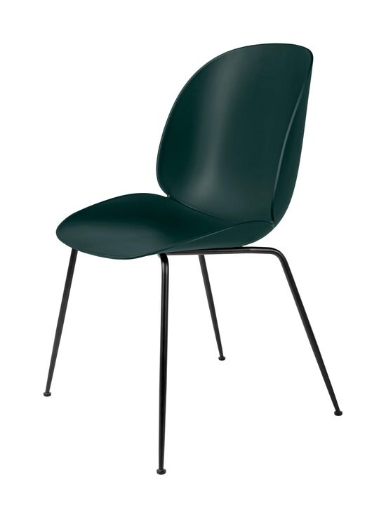 Gubi - Beetle-tuoli - BLACK MATT BASE, DARK GREEN, PLASTIC GLIDES | Stockmann - photo 1