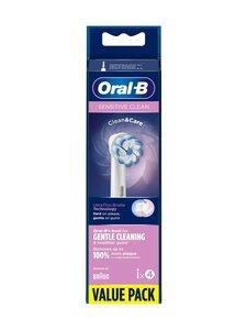 Oral-B - Sensitive Clean & Care -vaihtopäät 4kpl - WHITE   Stockmann