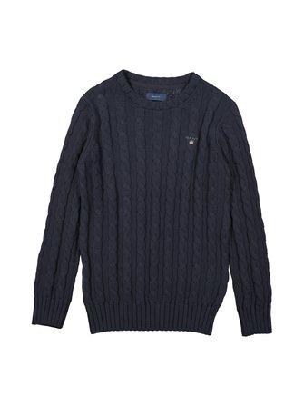 Cotton Cable Crew cotton knit - GANT
