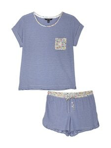 Lauren Ralph Lauren - T-paita ja shortsit -pyjamasetti - 486 BLUE STP | Stockmann