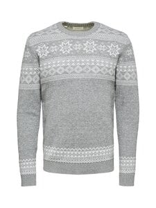 Selected - SlhFlake Pattern Crew Neck -puuvillaneule - null | Stockmann