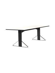 Artek - REB002 Kaari-pöytä, HPL - GLOSSY WHITE/BLACK OAK (VALKOINEN/MUSTA) | Stockmann