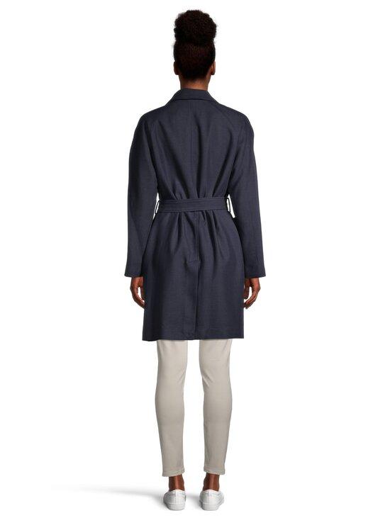 GANT - Fluid Linen Blend Belted Coat -takki - 433 EVENING BLUE | Stockmann - photo 3