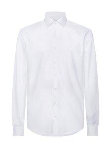 Calvin Klein Menswear - Slim Poplin Stretch Shirt -kauluspaita - 100 DF WHITE | Stockmann