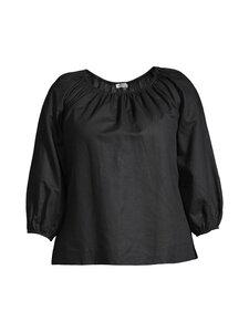 cut & pret PLUS - KIMMY PLUS Gathered woven blouse -pusero - BLACK   Stockmann