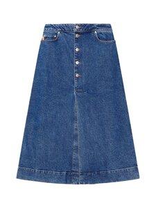 Ganni - Comfort Strech Skirt -farkkuhame - MEDIUM INDIGO | Stockmann