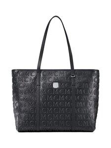 MCM - Medium Toni Shopper in MCM Monogram Leather -nahkalaukku - BLACK | Stockmann