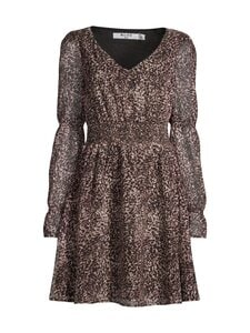 NA-KD - Smock Detail Chiffon Dress -mekko - LEOPARD | Stockmann