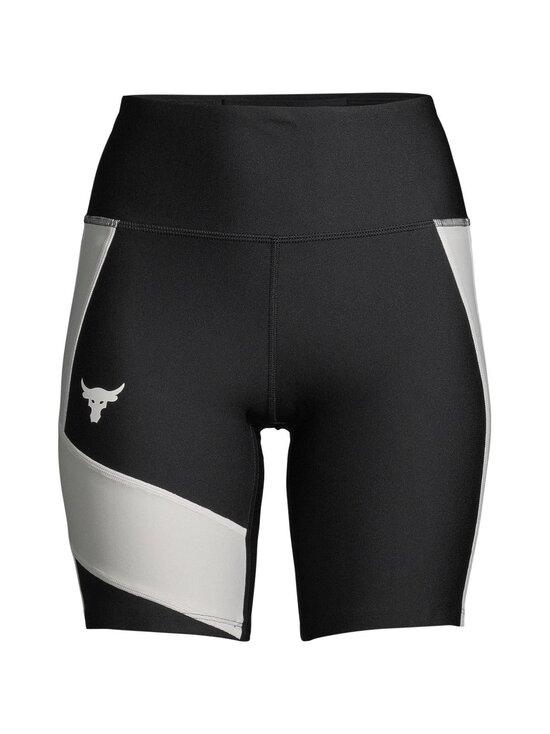Under Armour - Project Rock HeatGear® Bike Shorts -treenishortsit - 001 BLACK / SUMMIT WHITE / SUMMIT WHITE | Stockmann - photo 1