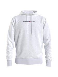 Tommy Jeans - TJM Straight Logo Hoodie -huppari - P1I WHITE HTR | Stockmann