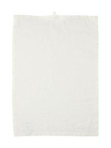 Casa Stockmann - Lino-keittiöpyyhe 42 x 60 cm - WHITE | Stockmann