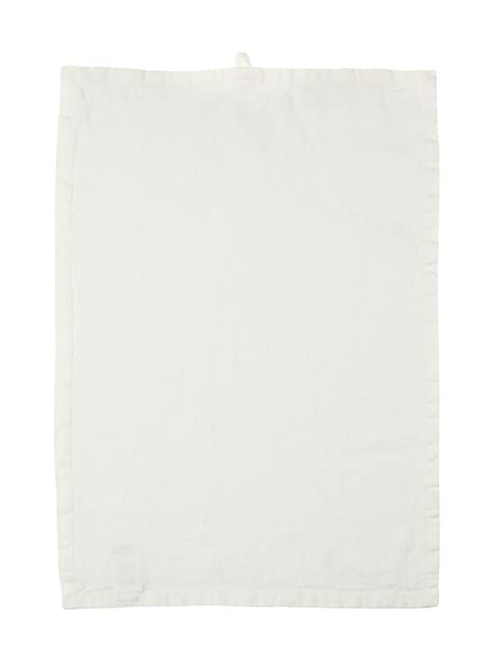 Casa Stockmann - Lino-keittiöpyyhe 42 x 60 cm - WHITE | Stockmann - photo 1
