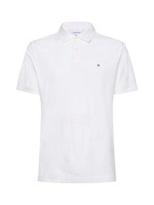 Calvin Klein Menswear - Logo Refined Pique Slim Polo -pikeepaita - 105 PERFECT WHITE | Stockmann