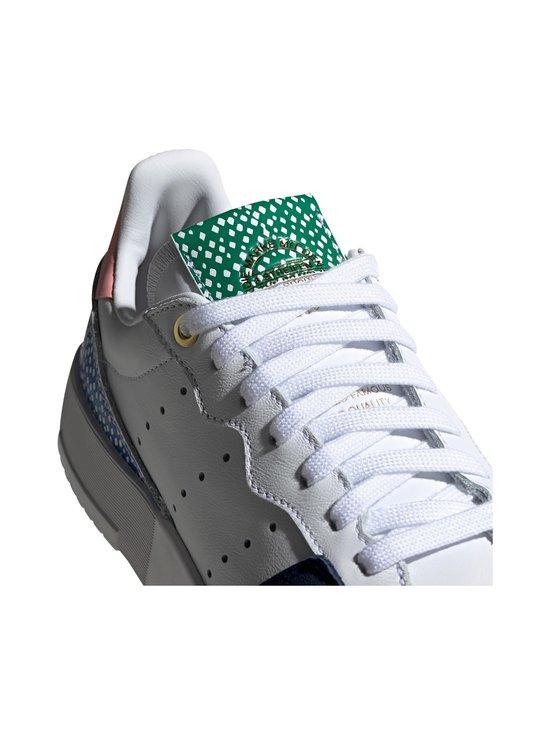 adidas Originals - W Supercourt -nahkasneakerit - CLOUD WHITE/LEGEND INK/GLOW PINK | Stockmann - photo 7