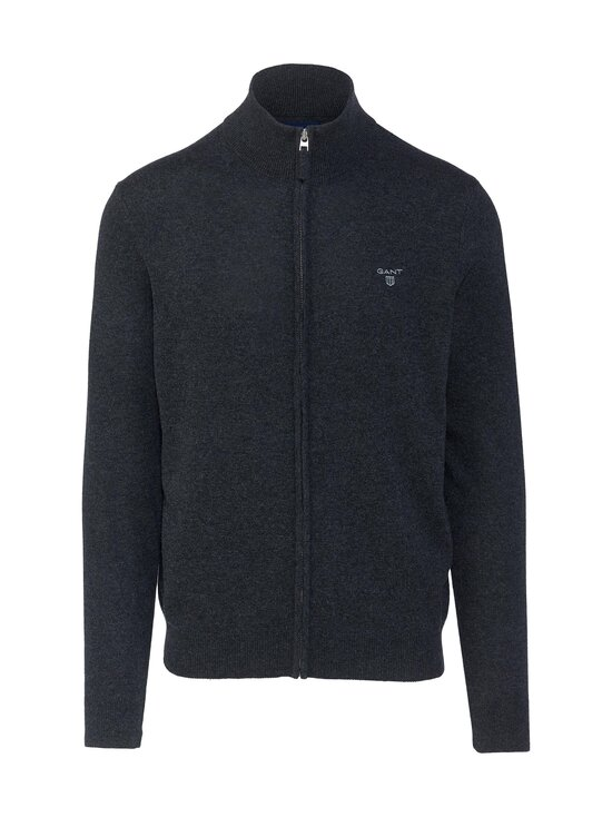 GANT - Extrafine Lambswool Zip -neuletakki - 95 ANTRACIT MELANGE | Stockmann - photo 1