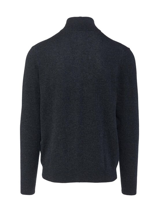 GANT - Extrafine Lambswool Zip -neuletakki - 95 ANTRACIT MELANGE | Stockmann - photo 2