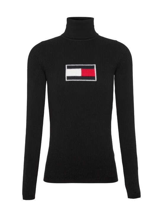 Tommy Jeans - Tommy Flag Roll Neck -pooloneule - BDS BLACK | Stockmann - photo 1